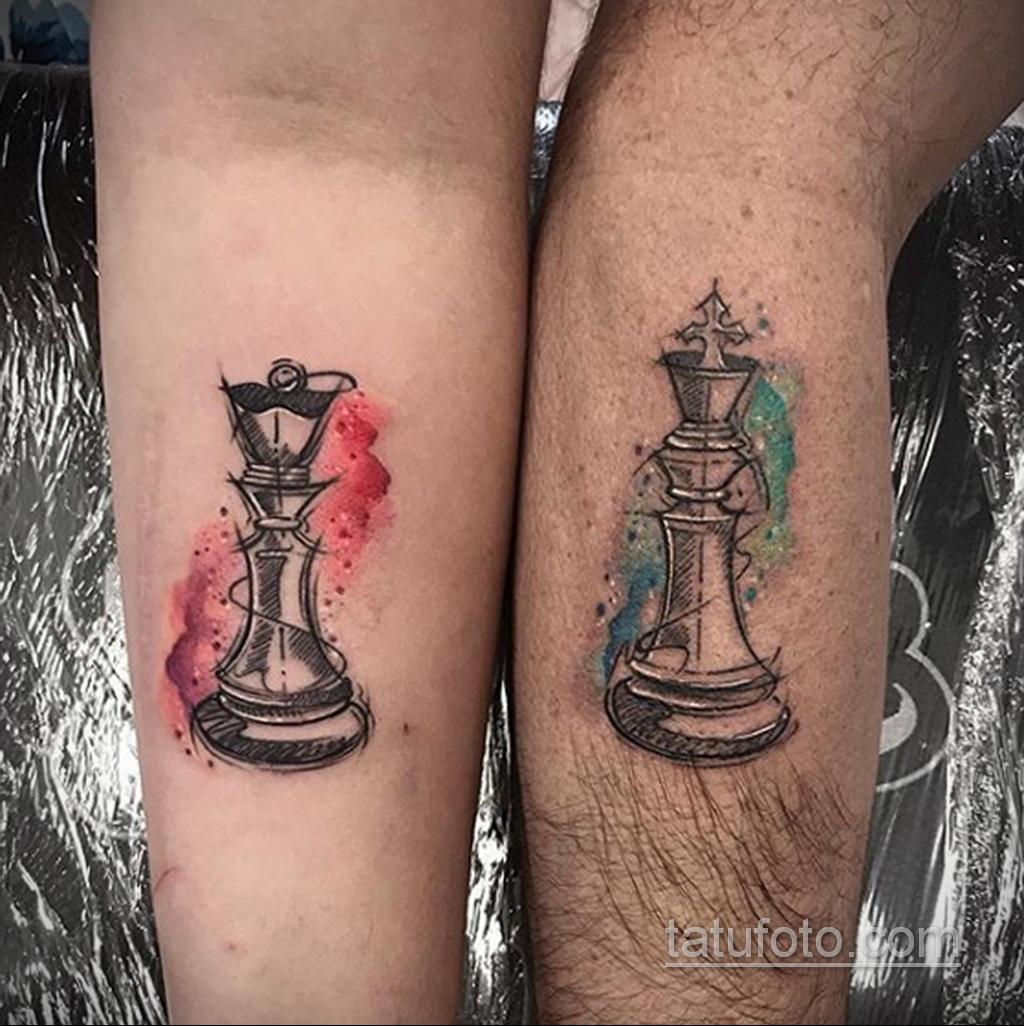 Фото татуировки с шахматами 20.07.2020 №058 -chess tattoo- tatufoto.com