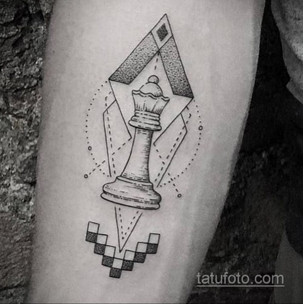 Фото татуировки с шахматами 20.07.2020 №064 -chess tattoo- tatufoto.com