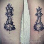 Фото татуировки с шахматами 20.07.2020 №065 -chess tattoo- tatufoto.com