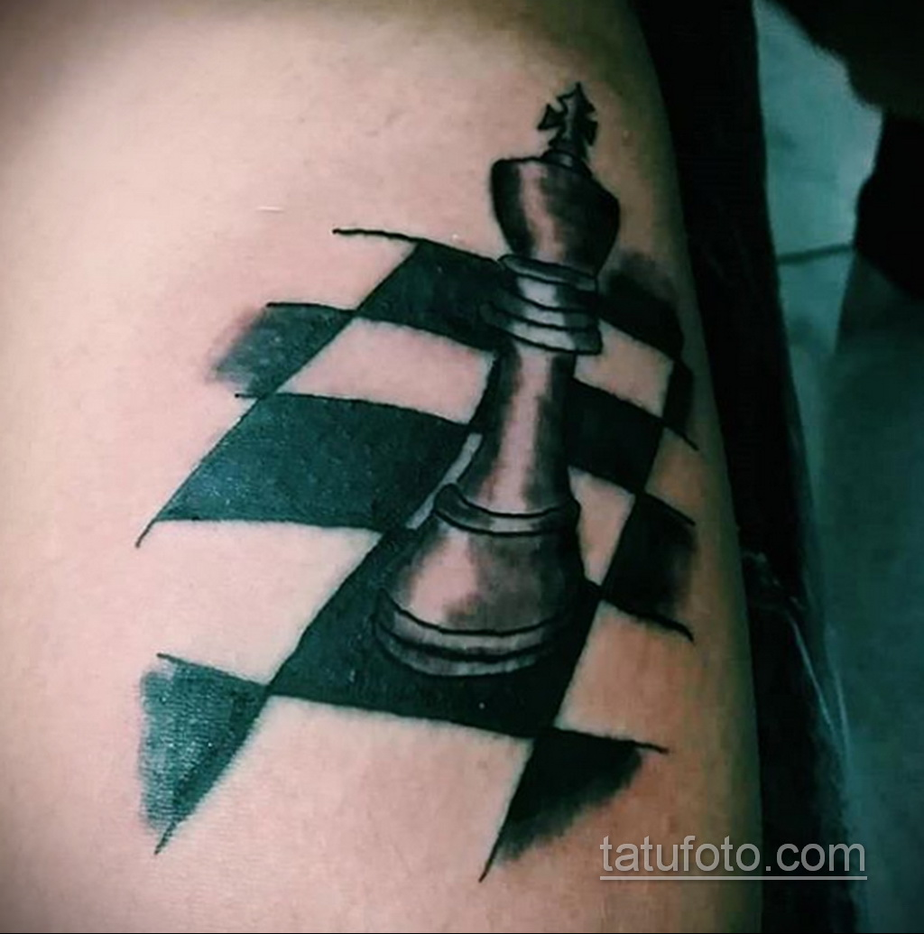Фото татуировки с шахматами 20.07.2020 №072 -chess tattoo- tatufoto.com
