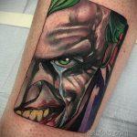 Фото тату с Джокером 16.08.2020 №001 -Joker tattoo- tatufoto.com