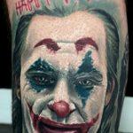 Фото тату с Джокером 16.08.2020 №006 -Joker tattoo- tatufoto.com