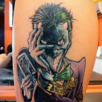 Фото тату с Джокером 16.08.2020 №112 -Joker tattoo- tatufoto.com