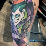 Фото тату с Джокером 16.08.2020 №120 -Joker tattoo- tatufoto.com