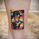 Фото тату с Одри Хепберн 10.08.2020 №033 -Audrey Hepburn tattoo- tatufoto.com