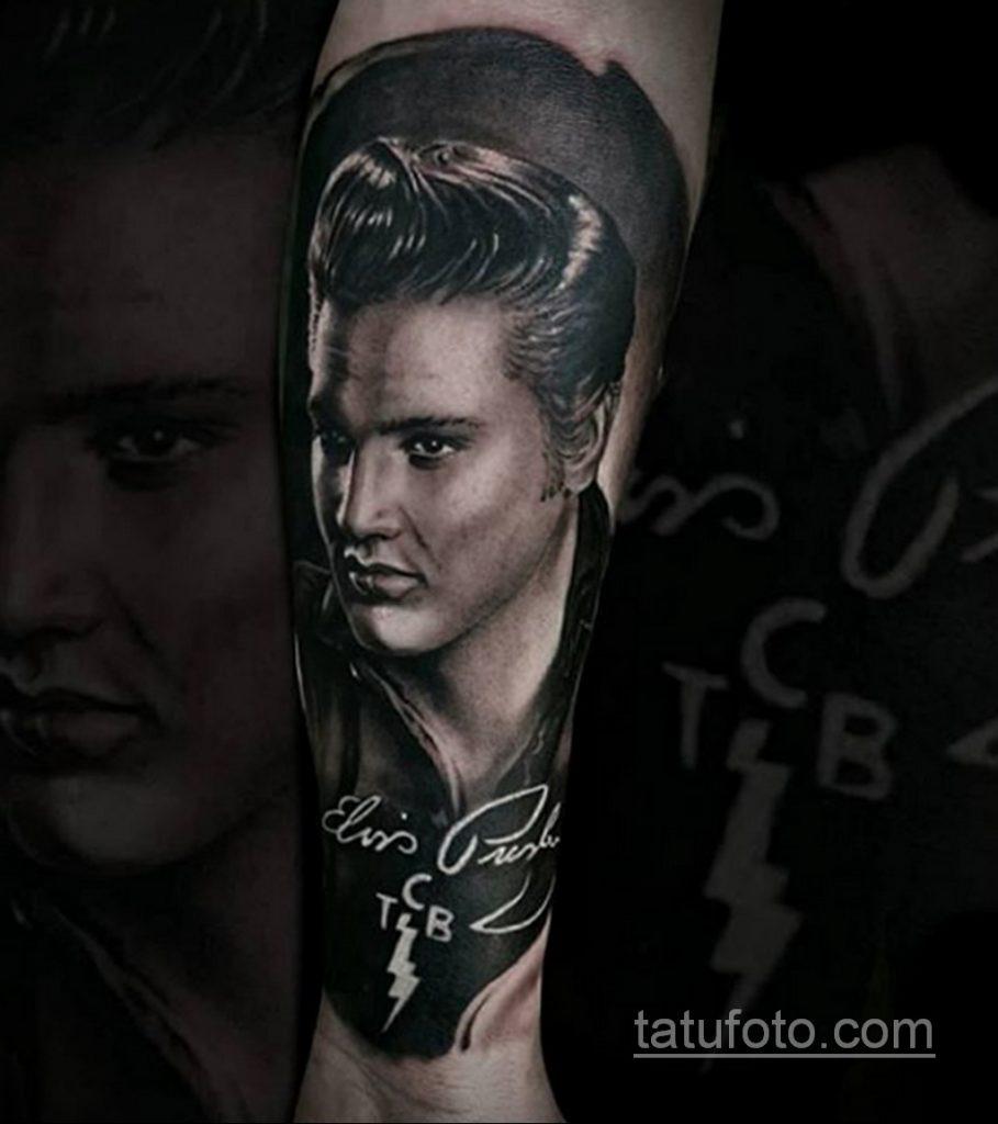 Фото тату с Элвисом Пресли 15.08.2020 №015 -Elvis Presley tattoo- tatufoto.com