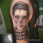 Фото тату с Элвисом Пресли 15.08.2020 №085 -Elvis Presley tattoo- tatufoto.com