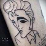 Фото тату с Элвисом Пресли 15.08.2020 №090 -Elvis Presley tattoo- tatufoto.com