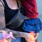 Красивая татуировка с аистом и девушкой рукавом на правой руке девушки – Уличная татуировка (street tattoo)-29.09.2020-tatufoto.com 5