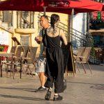 Красивая черная тату кругом на спине и шее девушки --Уличная тату-street tattoo-21.09.2020-tatufoto.com 6
