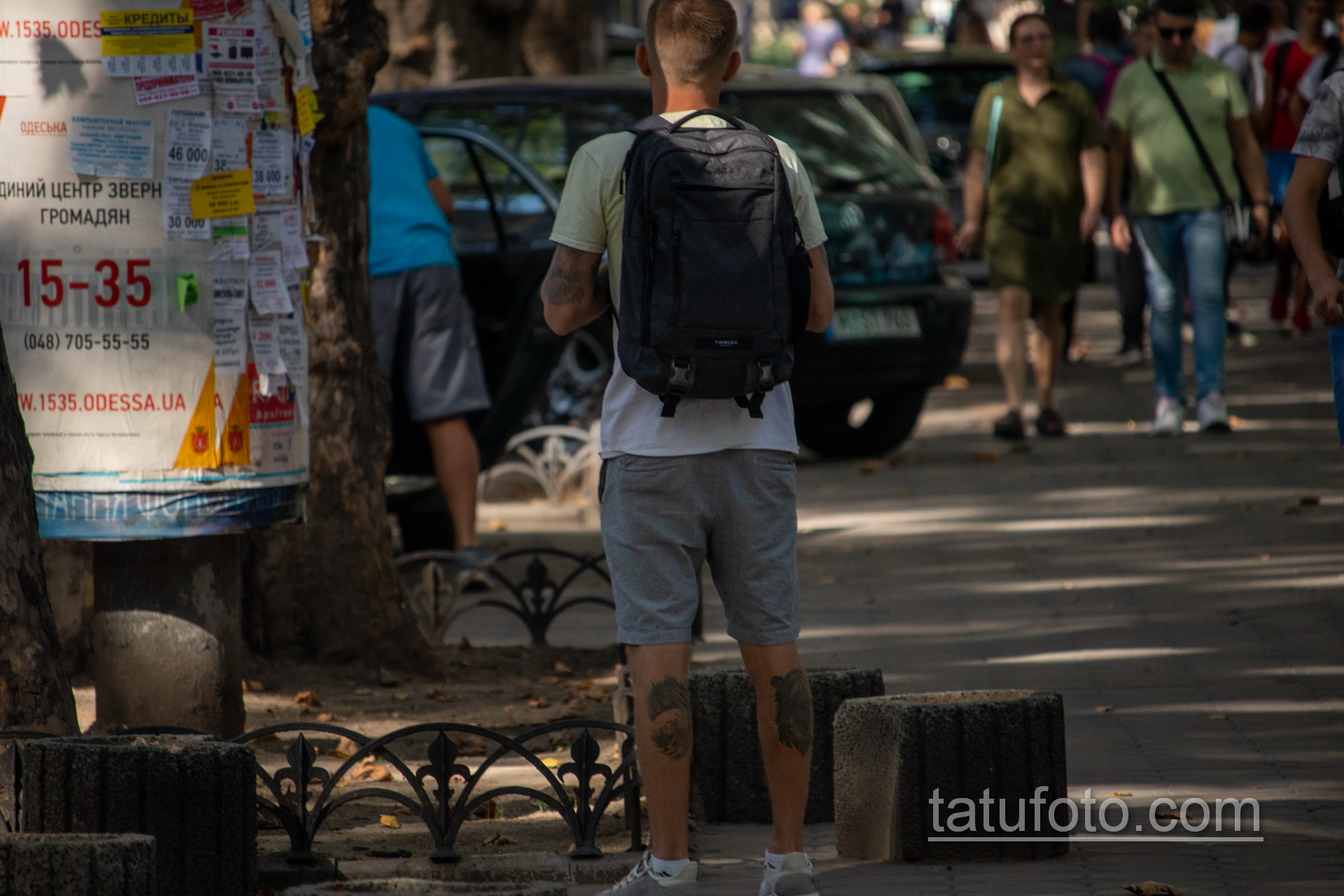 Молодой парень с тату на руках и ногах - Уличная татуировка 14.09.2020 – tatufoto.com 3