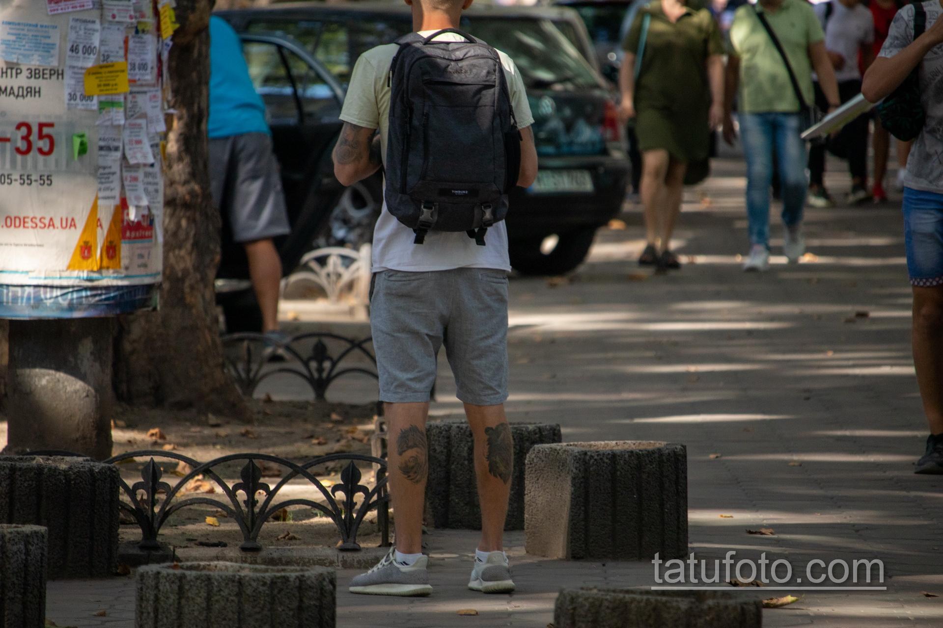 Молодой парень с тату на руках и ногах - Уличная татуировка 14.09.2020 – tatufoto.com 4