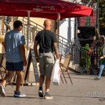 Рукав тату с часами и лицом девушки на правой руке взрослого мужчины - Уличная татуировка 14.09.2020 – tatufoto.com 17