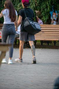Тату Маори узоры с животным внизу ноги парня --Уличная тату-street tattoo-21.09.2020-tatufoto.com 1