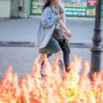 Тату воздушный шар внизу ноги девушки – Уличная татуировка (street tattoo)-29.09.2020-tatufoto.com 1