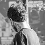 Тату глаз в треугольнике и цветок на шее парня --Уличная тату-street tattoo-21.09.2020-tatufoto.com 3
