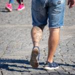 Тату горы дракон и ветер на левой ноге парня мужчины – Уличная татуировка (street tattoo)-29.09.2020-tatufoto.com 7