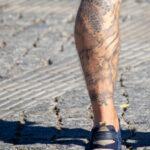 Тату горы дракон и ветер на левой ноге парня мужчины – Уличная татуировка (street tattoo)-29.09.2020-tatufoto.com 8