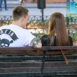 Тату два треугольника с черной лентой и цветами на руке парня – Уличная татуировка (street tattoo)-29.09.2020-tatufoto.com 3