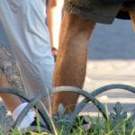 Тату змея и цифра 24 на ноге парня – Уличная татуировка (street tattoo)-29.09.2020-tatufoto.com 1