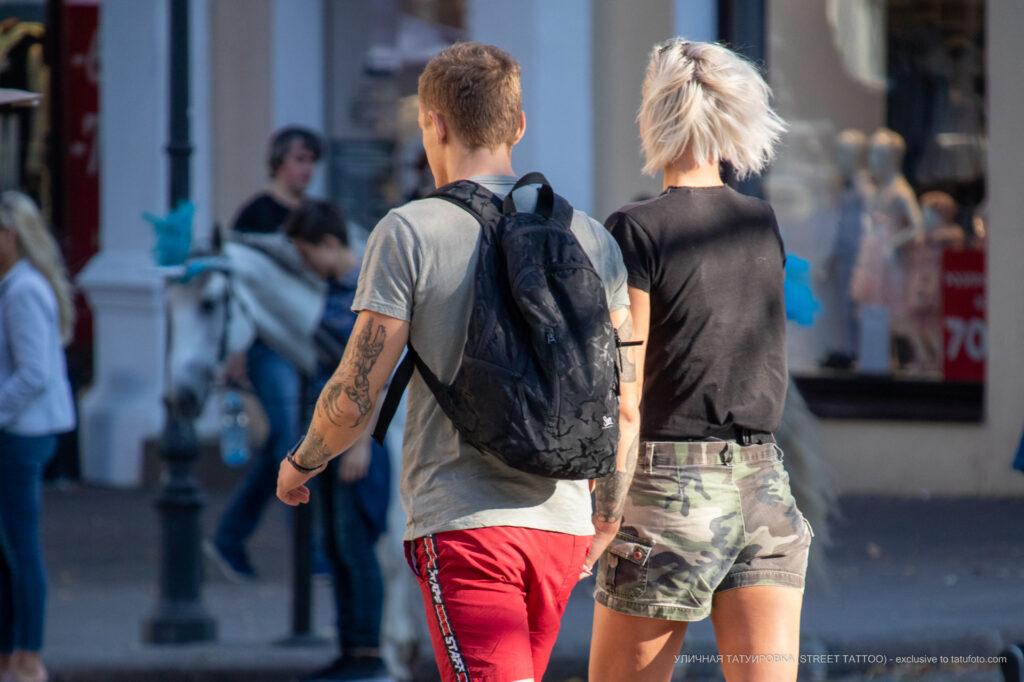 Тату лес дерево и рука на руке парня – Уличная татуировка (street tattoo)-29.09.2020-tatufoto.com 14