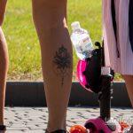 Тату лотос внизу правой ноги молодой мамы – Уличная татуировка 14.09.2020 – tatufoto.com 1