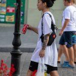Тату маска демона и змея на руке девушки азиатской внешности --Уличная тату-street tattoo-21.09.2020-tatufoto.com 14