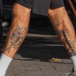 Тату маяк и морда демона на ноге парня – Уличная татуировка (street tattoo)-29.09.2020-tatufoto.com 3