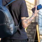 Тату мотылек на шее и терновник на руке парня --Уличная тату-street tattoo-21.09.2020-tatufoto.com 2