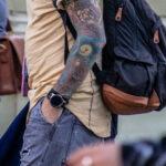 Тату на тему океана с рыбой удильщик на руке парня – Уличная татуировка (street tattoo)-29.09.2020-tatufoto.com 6