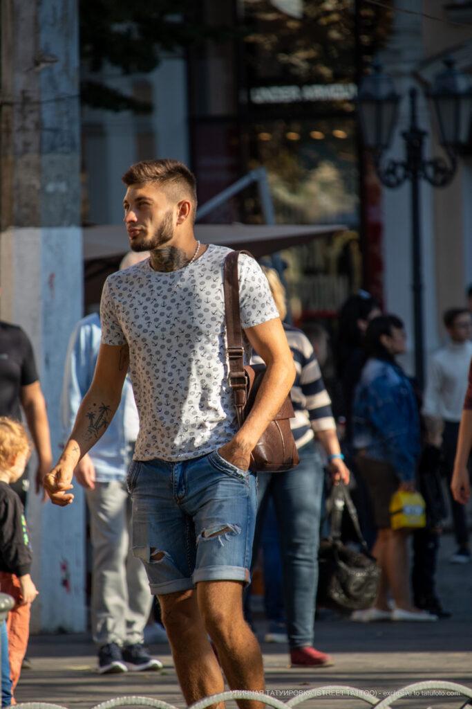 Тату на шее парня – Уличная татуировка (street tattoo)-29.09.2020-tatufoto.com 4