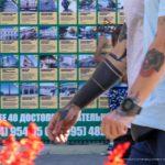 Тату оскал пантеры на руке парня --Уличная тату-street tattoo-21.09.2020-tatufoto.com 3