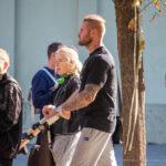 Тату рукав с портретом Дед Пула на левой руке мужчины – Уличная татуировка (street tattoo)-29.09.2020-tatufoto.com 7