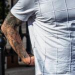 Тату рукав с фениксом молниями и портретом святого на руке мужчины – Уличная татуировка (street tattoo)-29.09.2020-tatufoto.com 4