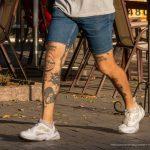 Тату сердце череп и булава на ногах парня --Уличная тату-street tattoo-21.09.2020-tatufoto.com 10