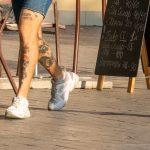 Тату сердце череп и булава на ногах парня --Уличная тату-street tattoo-21.09.2020-tatufoto.com 8