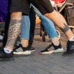 Тату силуэт леса и узоры внизу ноги парня – 17.09.2020 – tatufoto.com 5
