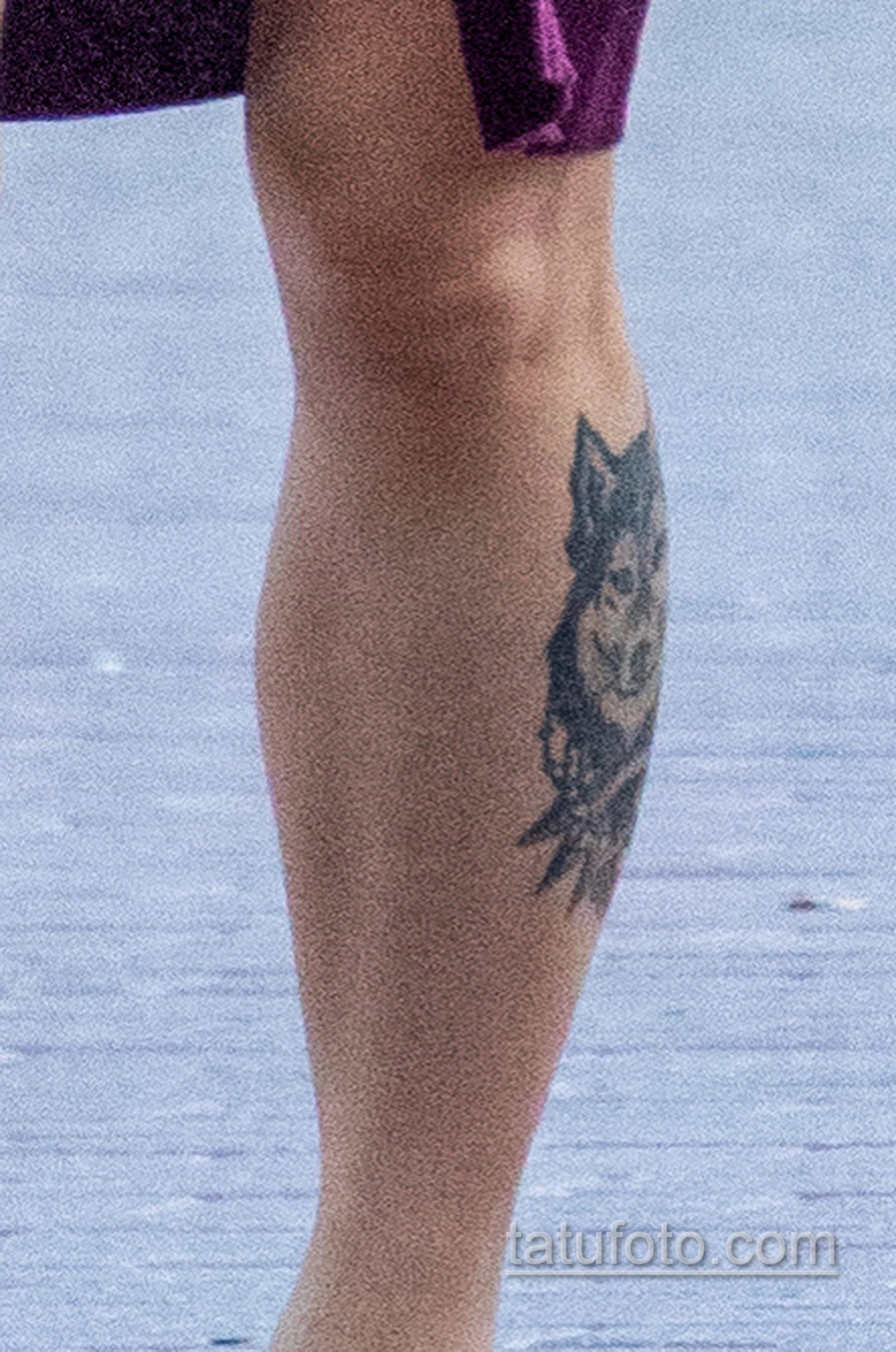 Тату с волком внизу ноги девушки - Уличная татуировка 14.09.2020 – tatufoto.com 2