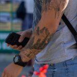 Тату с лесом – горами и птицами в рукаве у парня - Уличная татуировка 14.09.2020 – tatufoto.com 6