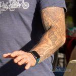 Тату с рунами и узлами в тату рукаве у мужчины – Уличная татуировка 14.09.2020 – tatufoto.com 5