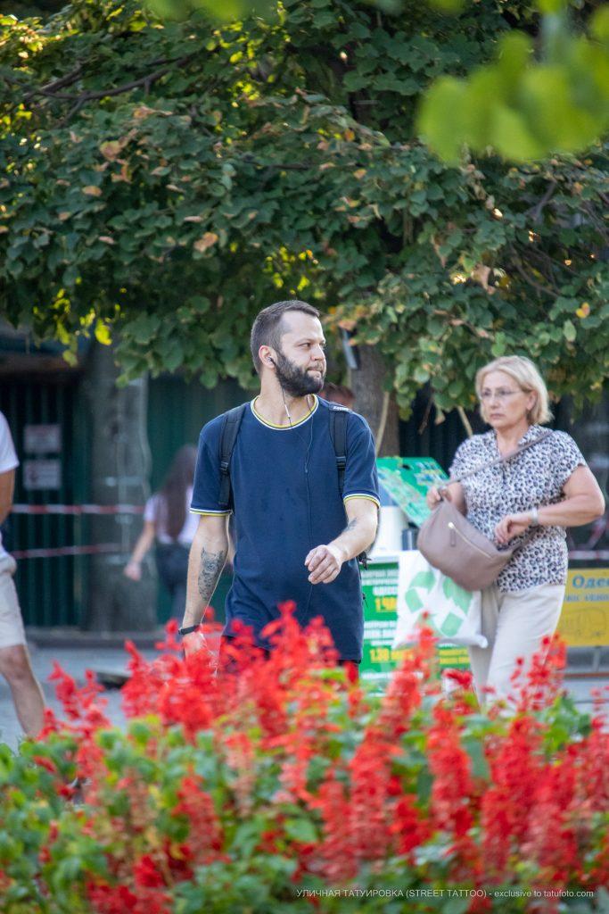 Тату с совой на предплечье мужчины – 17.09.2020 – tatufoto.com 1