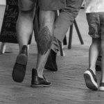 Тату узор и крест внизу ноги мужчины --Уличная тату-street tattoo-21.09.2020-tatufoto.com 3