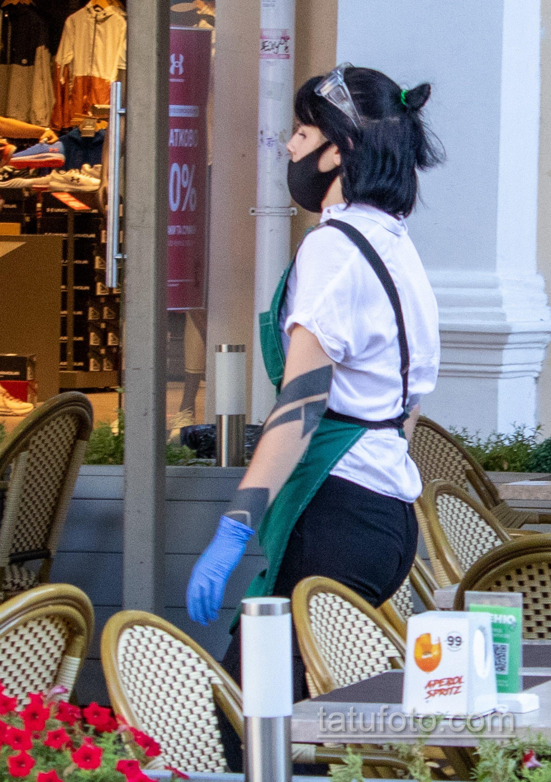 Фото блекворк татуировок на руке девушки официантки - Уличная татуировка 14.09.2020 – tatufoto.com 5