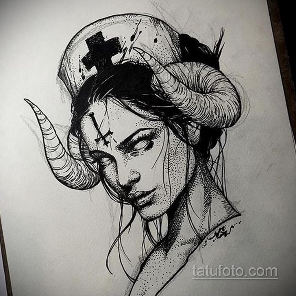 Фото пример классного эскиза для тату 05.09.2020 №008 -tattoo sketch- tatufoto.com
