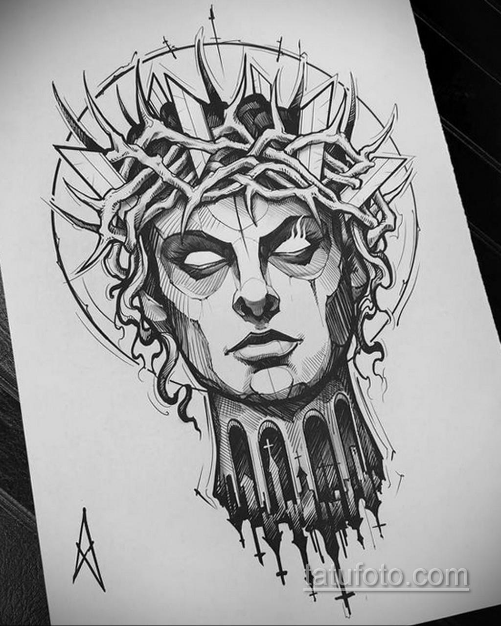 Фото пример классного эскиза для тату 05.09.2020 №016 -tattoo sketch- tatufoto.com