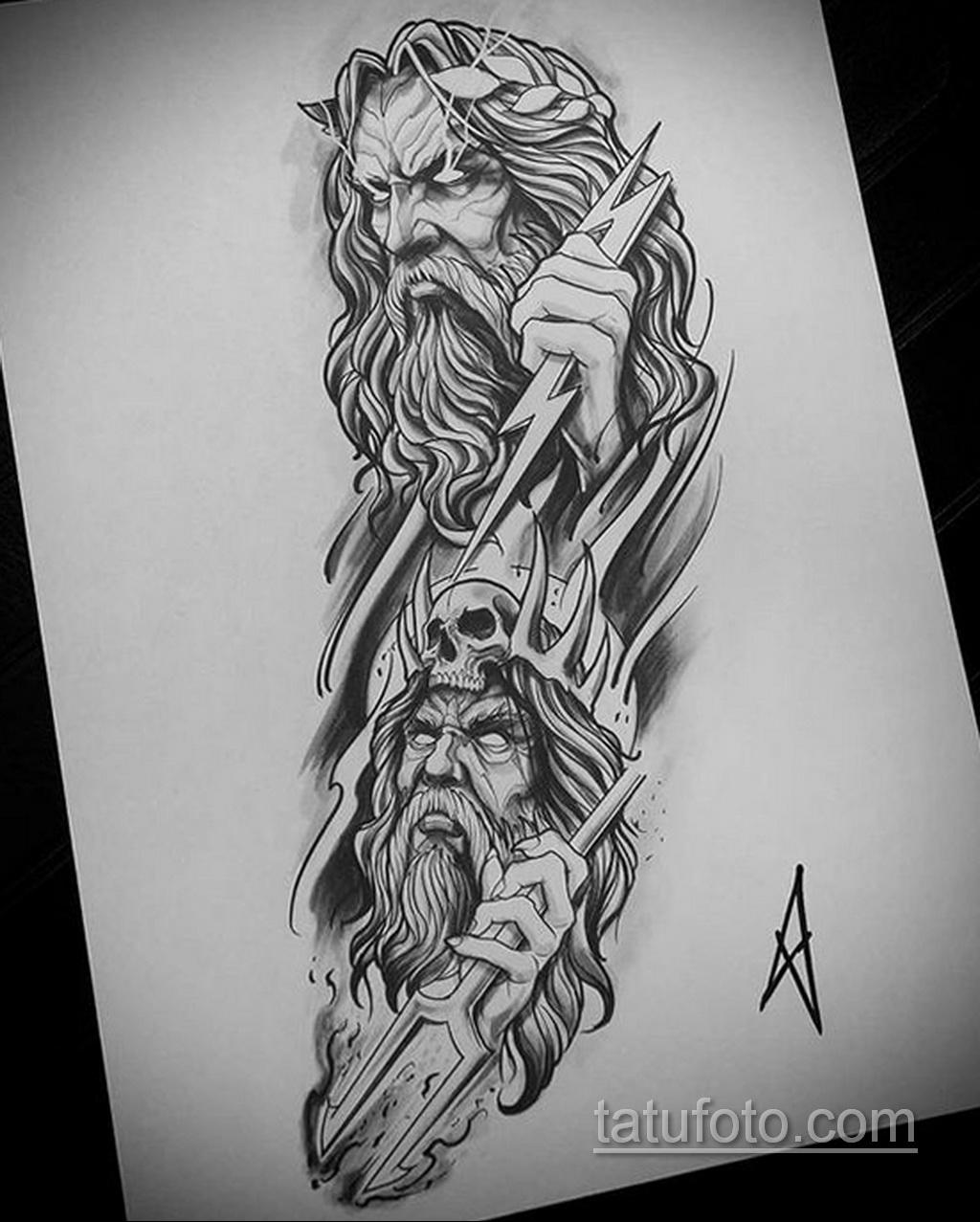 Фото пример классного эскиза для тату 05.09.2020 №017 -tattoo sketch- tatufoto.com