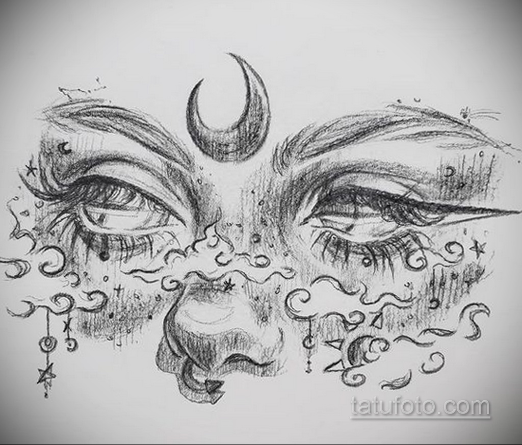 Фото пример классного эскиза для тату 05.09.2020 №019 -tattoo sketch- tatufoto.com
