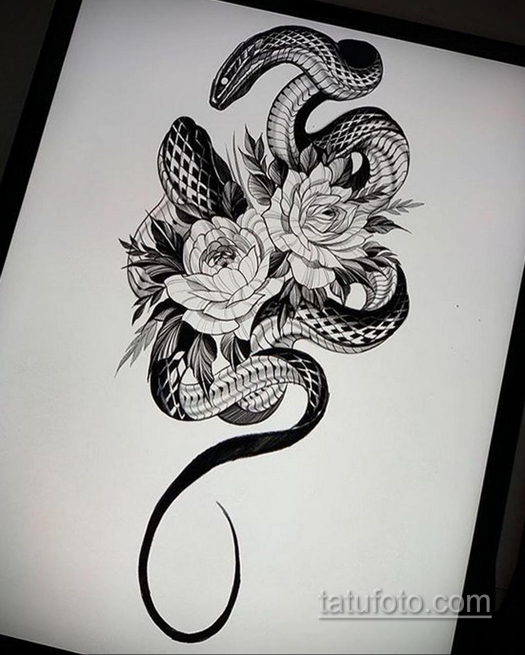 Фото пример классного эскиза для тату 05.09.2020 №020 -tattoo sketch- tatufoto.com