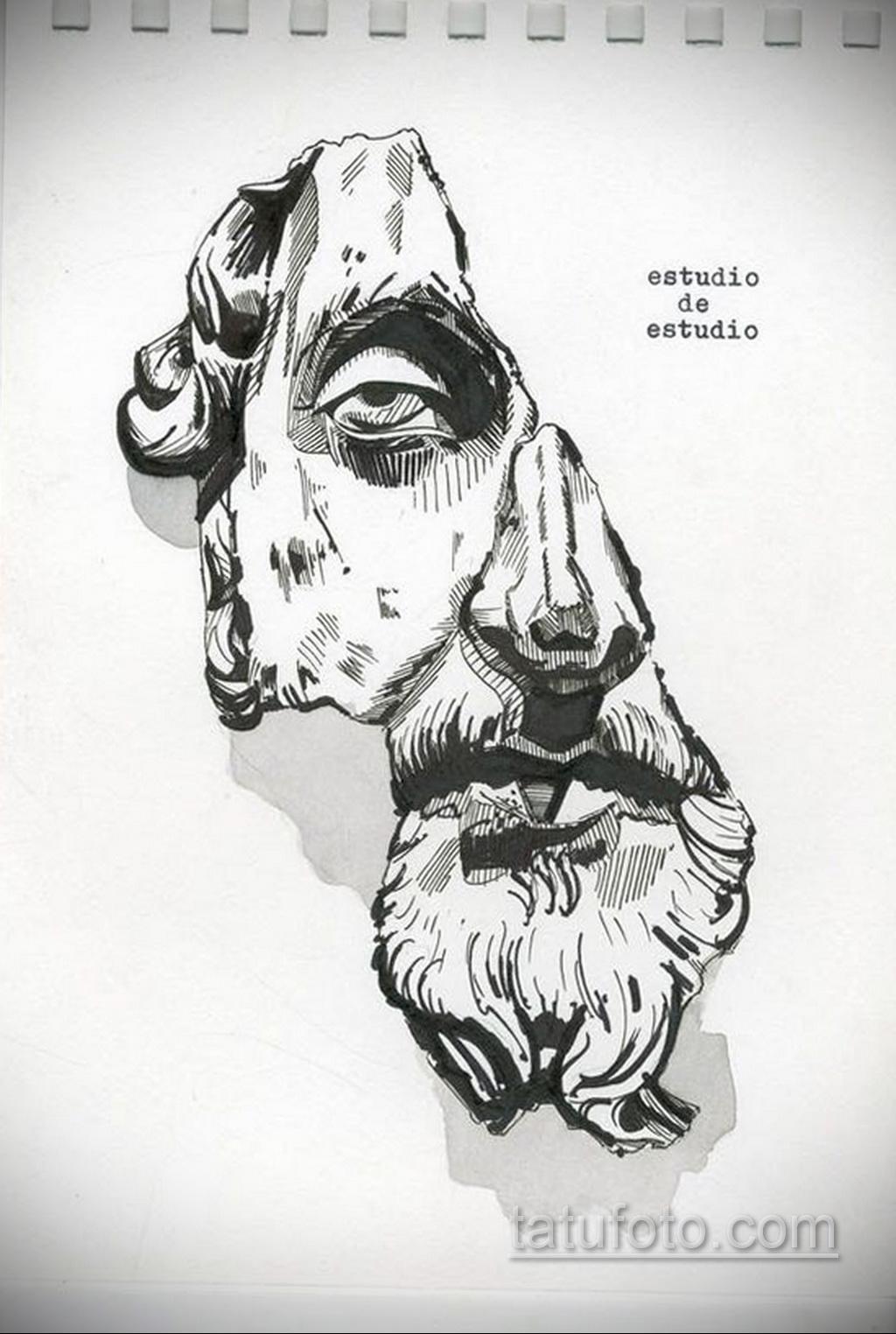 Фото пример классного эскиза для тату 05.09.2020 №028 -tattoo sketch- tatufoto.com