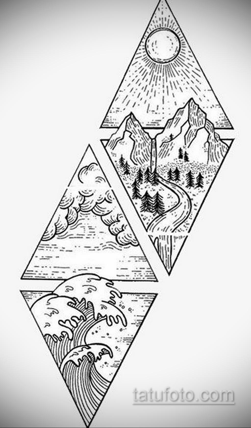 Фото пример классного эскиза для тату 05.09.2020 №031 -tattoo sketch- tatufoto.com